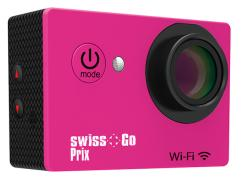- - 0653019 Prix WiFi Action Cam 12 mp rosa Swiss Go