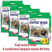- - 9915007 Kit 4 pezzi Instax 10 pose 2 pacchi (80 foto) scad. 09-2019