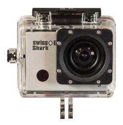 - - 0653014 Shark Full HD WiFi Action Cam 5,0 mp bianca Swiss Go