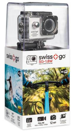 - - 0653045 SG-1,8W 12Mp WiFi Full HD Action Camera Bianca